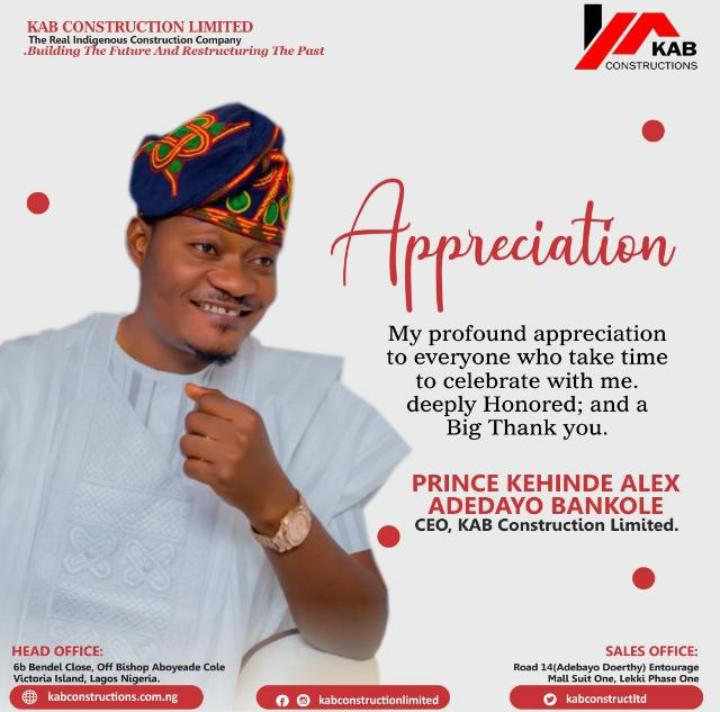 Birthday: Kehinde Bankole appreciates Ooni of Ife, Atiku, Zamfara Governor, others