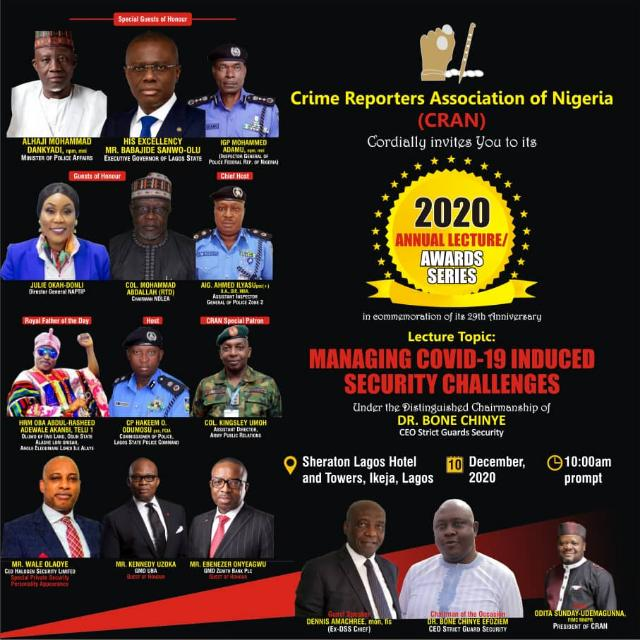 Insecurity tops discussion, as CRAN holds 29th annual public lecture