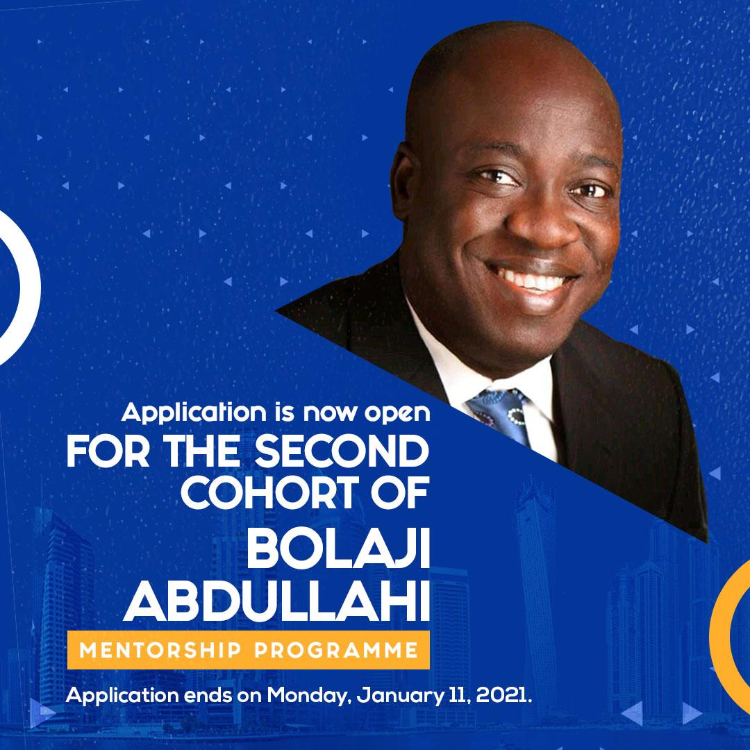 Bolaji Abdullahi mentorship programme commence application for second cohort
