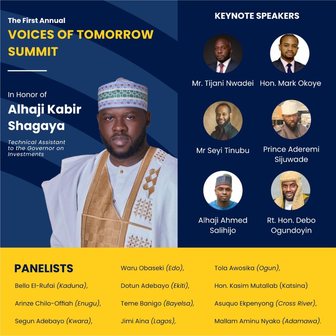 Kwara, Oyo Speakers, REA MD, others to attend Kabir Shagaya's youth leadership summit